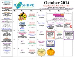 MSHAPE Calendar-October 2014