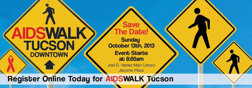 AIDSWALK Tucson is Sunday October 13. Register Today and help us celebrate this 25th anniversary in style!