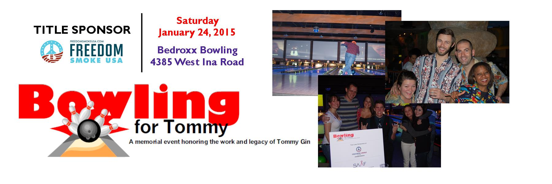 The 6th Annual Bowling for Tommy is January 24. Join us for one of SAAF's funnest events!