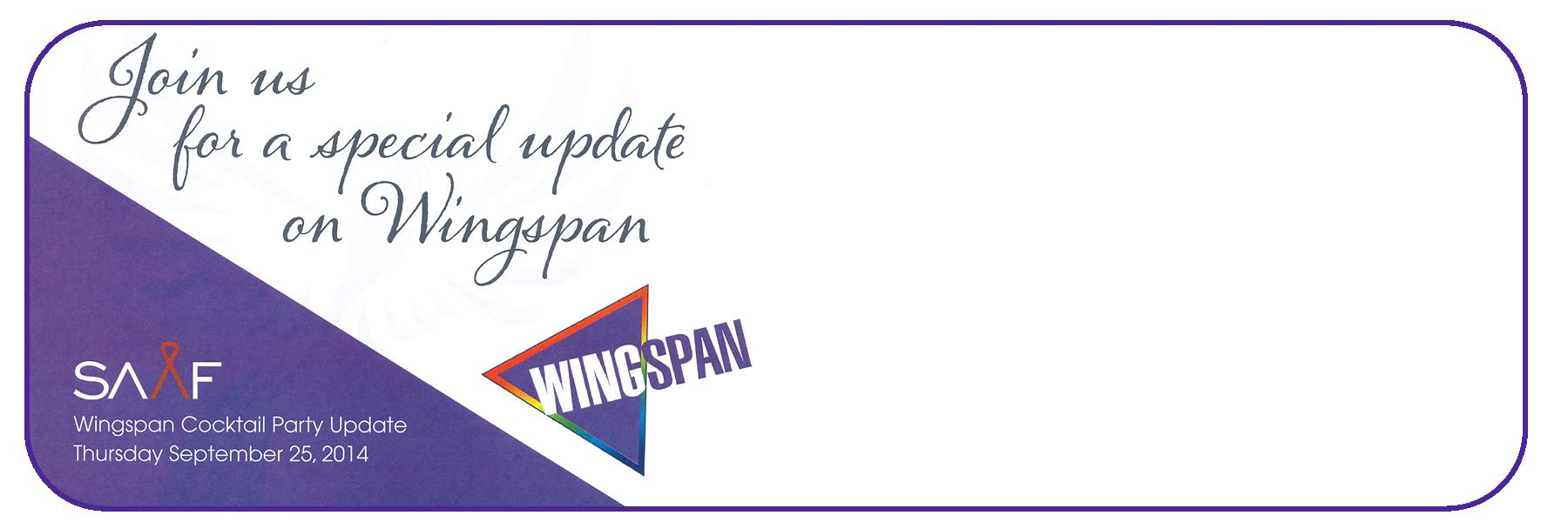 Join us for an update on the future of Wingspan. This is a free event and open to the public.