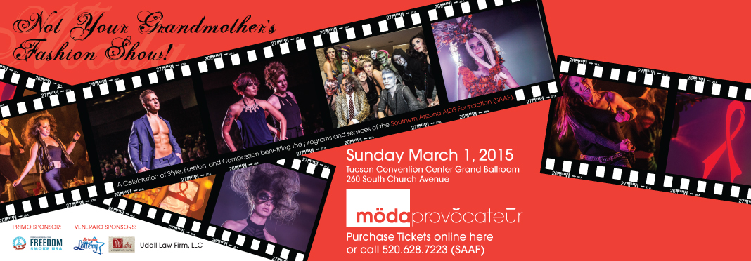 The 12th annual Moda Provocateur is Sunday March 1. Hurry- tickets are going fast!
