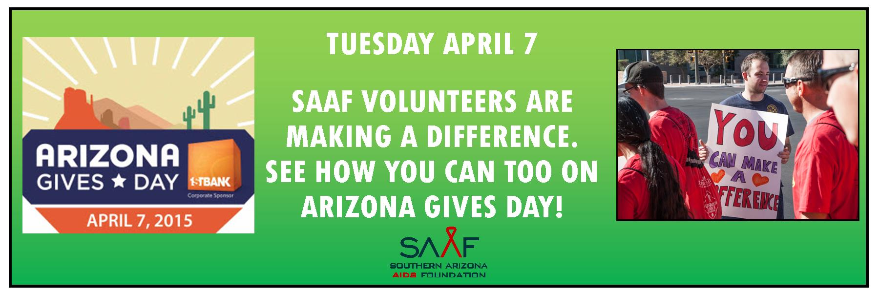 Arizona Gives Day is Tuesday April 7 and your gift will be doubled!