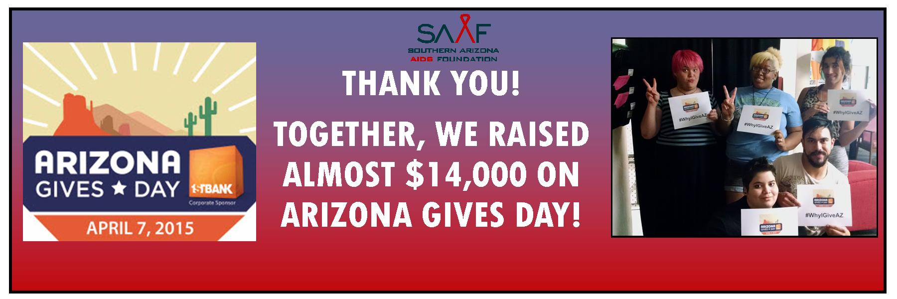 YOU made a big difference for SAAF on AZ Gives Day & we thank you!