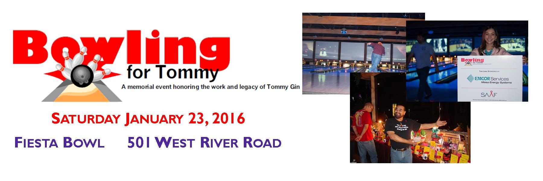 Bowling for Tommy is Saturday January 23. HURRY- Lanes are filling up fast for this great event!