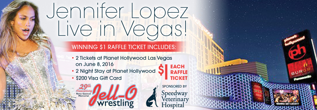 This year's Jell-O Raffle Prize is 2 tickets to see JLO live in Las Vegas!