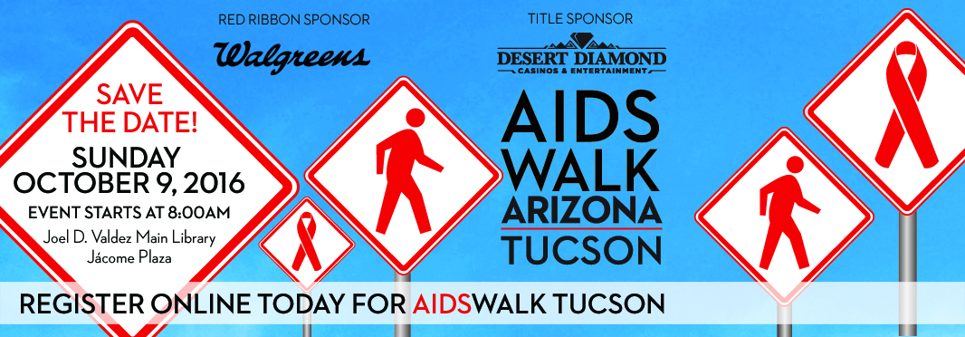 AIDSWALK Tucson is Sunday, October 9. Register today and take a stand against stigma in our community.